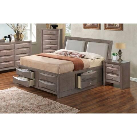 LYKE Home Nora Queen Six Drawer Storage Bed