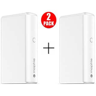 mophie Powerstation Boost External Battery for Universal Smartphones and Tablets (5,200mAh) - White (2 Pack)|https://ak1.ostkcdn.com/images/products/17537612/P23752503.jpg?impolicy=medium