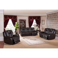 Haines Leather Power Sofa, Loveseat and Chair Recliner Set