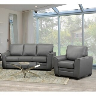 Minneola Leather Sofa and Chair Set