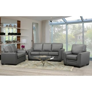 Minneola Leather Sofa, Loveseat and Chair Set
