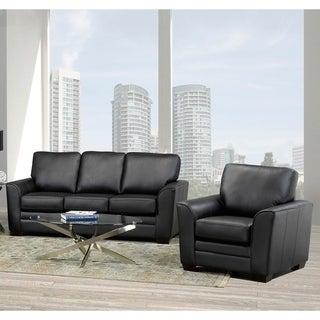 Mabel Leather Sofa and Chair Set