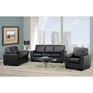 Mabel Leather Sofa, Loveseat and Chair Set