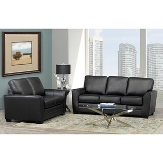 Mabel Leather Sofa and Loveseat Set