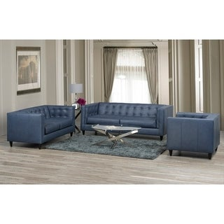 Nobleton Leather Sofa, Loveseat and Chair Set