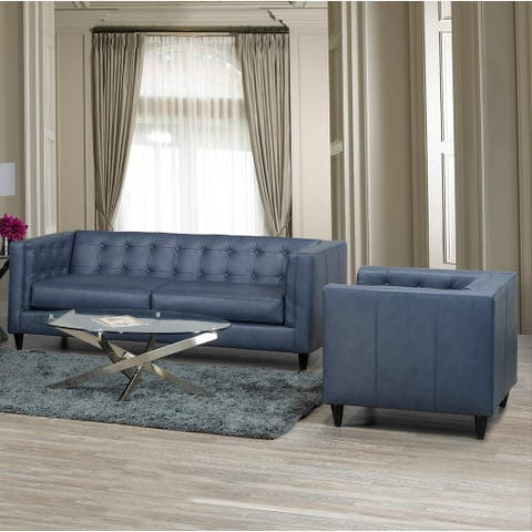 Nobleton Leather Sofa and Chair Set