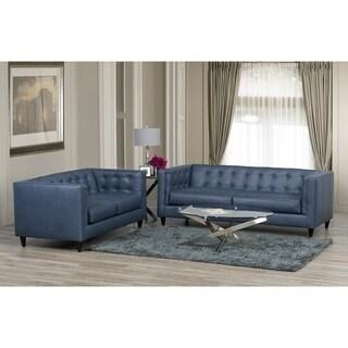 Nobleton Leather Sofa and Loveseat Set