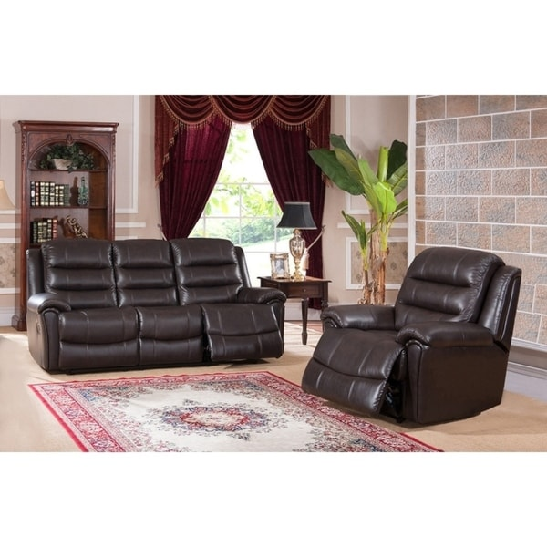 Brookville Leather Sofa and Chair Recliner Set