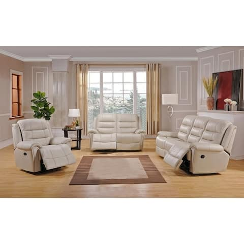 Tarpon Leather Sofa, Loveseat and Chair Recliner Set