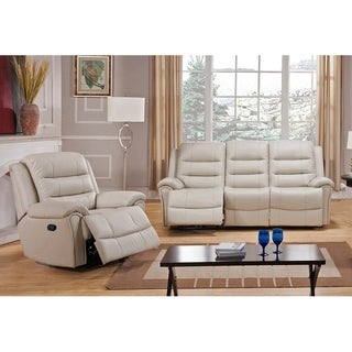 Tarpon Leather Sofa and Chair Recliner Set