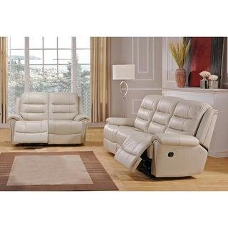 Tarpon Leather Sofa and Loveseat Recliner Set