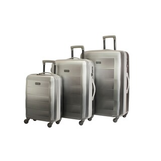 Pacpro Luggage Sets Glossy Suitcase Sets Hardside Spinner Trolley Expandable (19'', 24'' & 28'') TSA