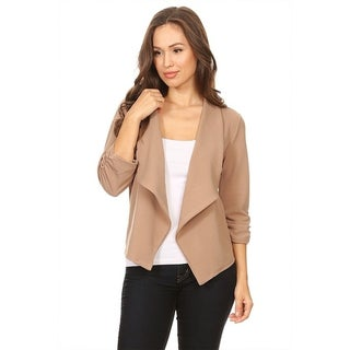 Women's Solid Color Blazer Style Draped Jacket (More options available)