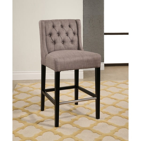 Abbyson Bellville Tufted 27 Inch Counter Stool