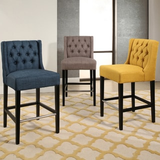 Abbyson Bellville Tufted 30-inch Bar Stool