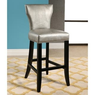 Aurelle Home Solid Stool Silver Free Shipping Today
