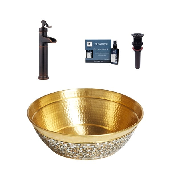 Sinkology Shockley All-in-One Brass Sink and Faucet Kit. Opens flyout.