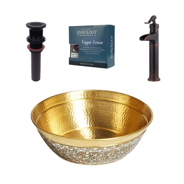 Sinkology Shockley All-in-One Brass Sink and Faucet Kit