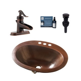 Sinkology Seville All-in-One Copper Sink and Faucet Kit
