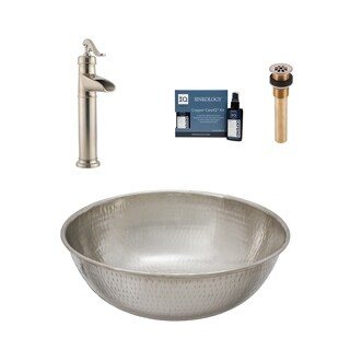 "Sinkology Bohr 14"" All-in-One Nickel Sink and Faucet Kit"
