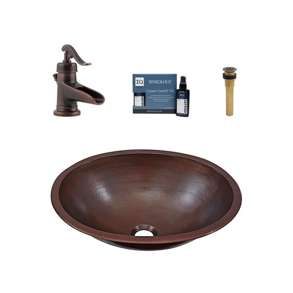 Sinkology Schrodinger All-in-One Copper Sink and Faucet Kit. Opens flyout.