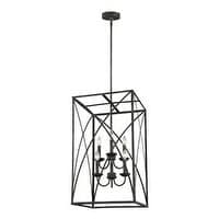 Feiss Greenbrier 6 Light Iron Oxide Chandelier