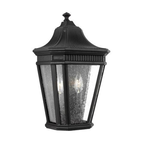 Feiss Cotswold Lane 2 - Light Wall Lantern, Black