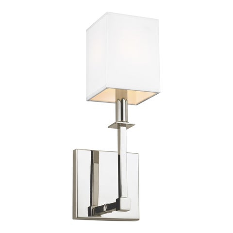 Feiss Quinn 1 - Light Wall Sconce, Polished Nickel