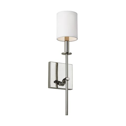 Feiss Hewitt 1 - Light Wall Sconce, Polished Nickel - Silver