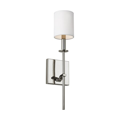 Feiss Hewitt 1 - Light Wall Sconce, Polished Nickel