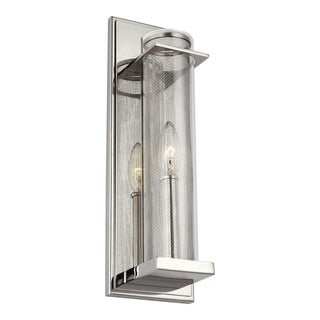 Feiss Silo 1 - Light Wall Sconce, Polished Nickel