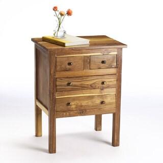 Handmade Reclaimed Teak Four Drawer End Table (India)