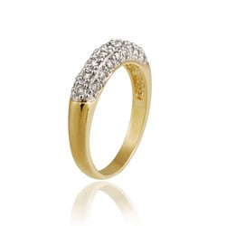 Icz Stonez Gold over Silver CZ Ring - Thumbnail 1