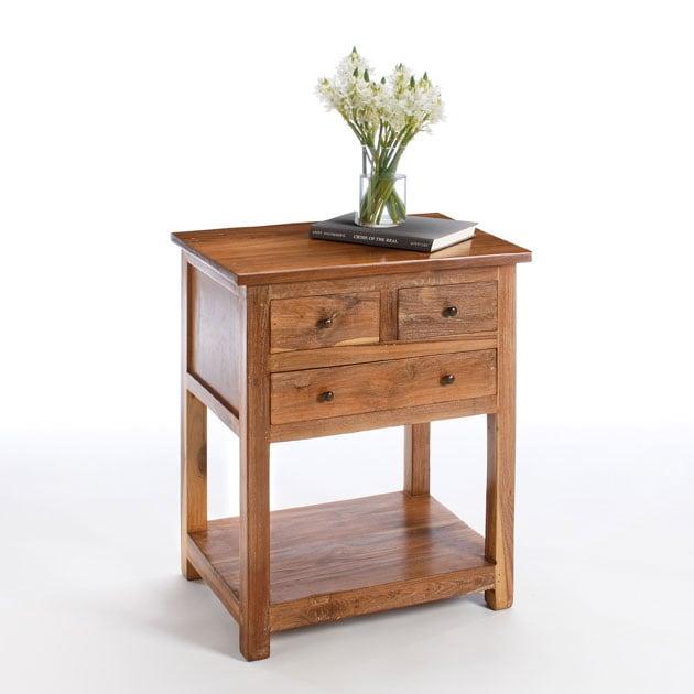 Handmade Reclaimed Teak 3 drawer Side Table India  : Reclaimed Teak 3 drawer Side Table India L10117157a from www.overstock.com size 630 x 630 jpeg 30kB