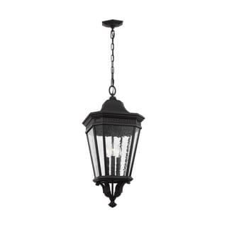 Feiss 3 - Light Hanging Lantern, Black