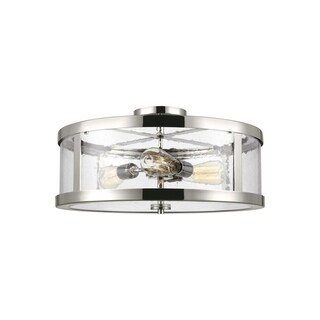 Feiss 3 - Light Semi Flush Mount, Polished Nickel