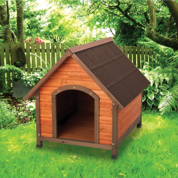 Shop Large Premium A Frame Dog House Free Shipping Today - Dog-house-frame