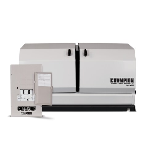 Champion 14-kW Home Standby Generator with 100-Amp Indoor-Rated Automatic Transfer Switch
