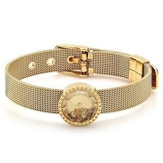 Piatella Ladies Gold Tone Bracelet with Swarovski Element Crystals