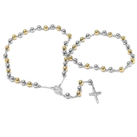 Piatella Ladies Two Tone Rosary Necklace