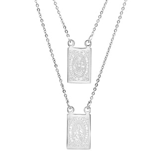 Link to Piatella Ladies Stainless Steel Scapular Necklace in 2 Colors Similar Items in Necklaces