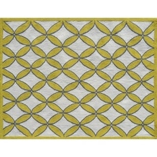 Diamonds Yellow/ Area Rug