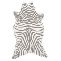 Zebra Grey/ Area Rug