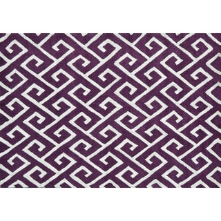 Greek Aubergine/ Area Rug