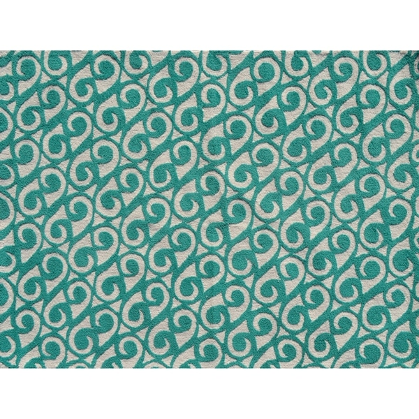 Shop Yang Teal/ Area Rug