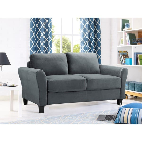 Incredible Shop Lifestyle Solutions Waverly Contemporary Loveseat On Andrewgaddart Wooden Chair Designs For Living Room Andrewgaddartcom
