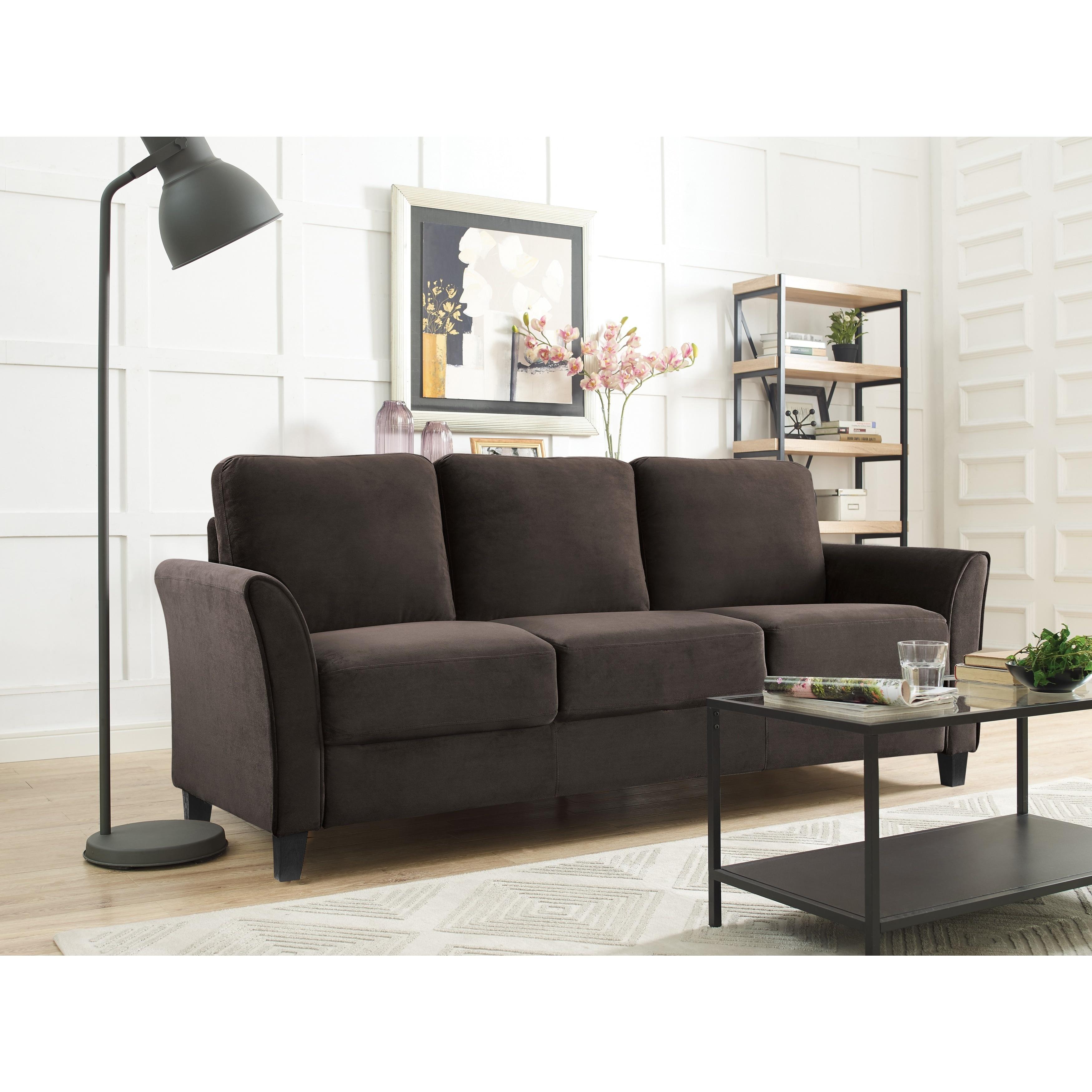Lifestyle Solutions Waverly Sofa (Coffee), Brown (Foam)