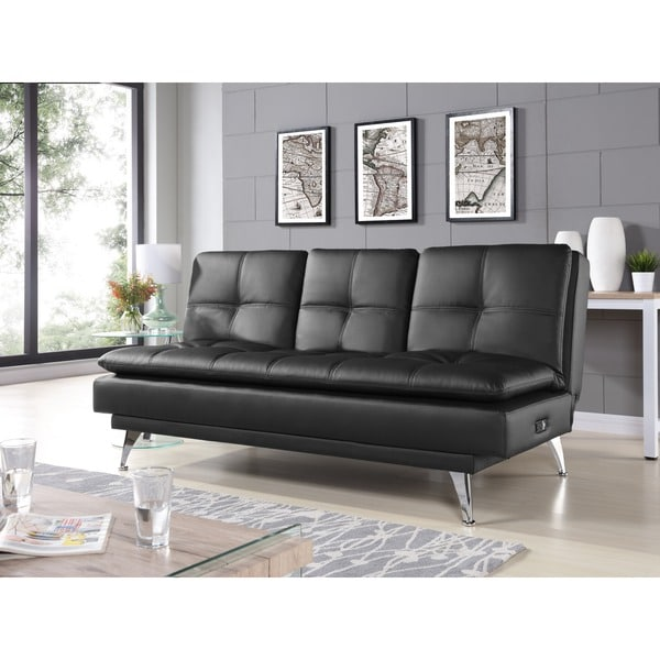 shop relax a lounger michaela convertible sofa free shipping today rh overstock com