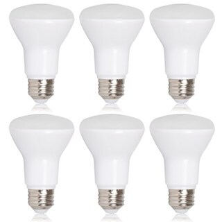 Maxxima Dimmable BR20 LED 7 Watt Warm White 600 Lumens 50 Watt Equivalent (Pack of 6)
