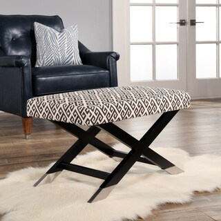 Abbyson Athens Upholstered Fabric Ottoman